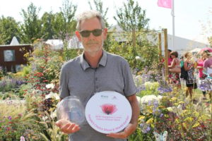 Steve Dimmock People's Choice winner at Hampton Court Flower Show 2018 for the RNIB Community Garden